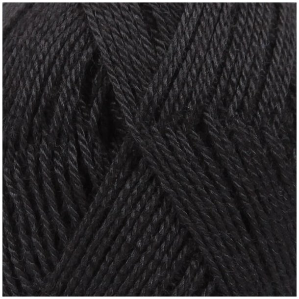 Drops BabyAlpaca silk Garn 8903 Sort Unicolour