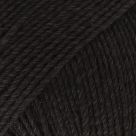 Image of Drops Cotton Merino Garn 02 Sort Unicolour